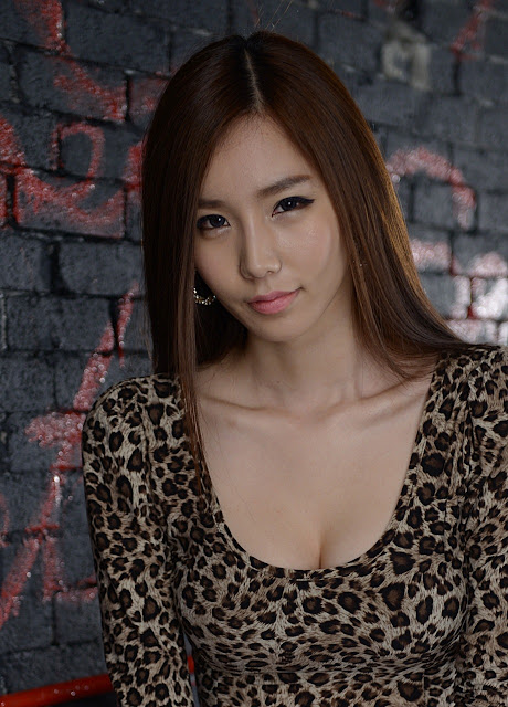 5 Lee Ji Min - Leopard Girl-very cute asian girl-girlcute4u.blogspot.com