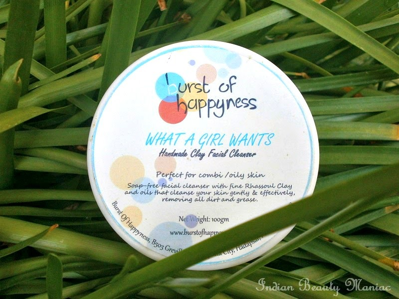 Burst of Happyness What a Girl Wants facial cleanser