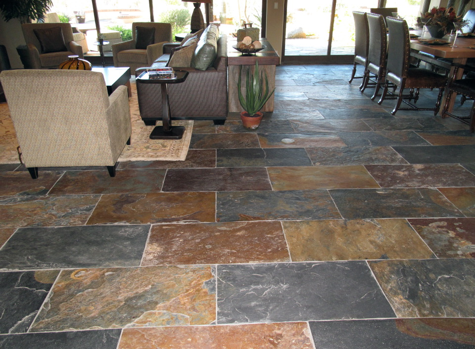 Natural Stone And Tile Nashville Location Trends In Tile Flooring: slate tile flooring