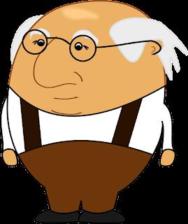Stary człowiek bez włosów