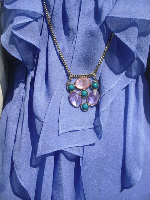 Jewel Pendant and DVF Top