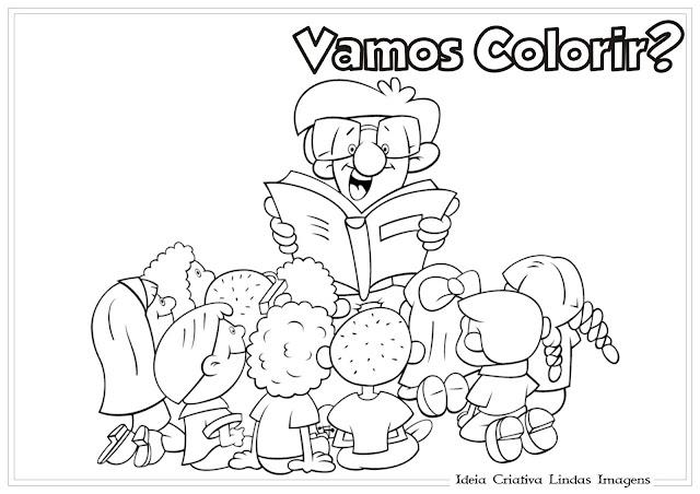 Dia do Livro Infantil para colorir