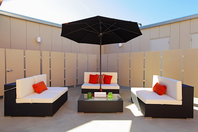 Photo of two outdoor sofas on the terrace