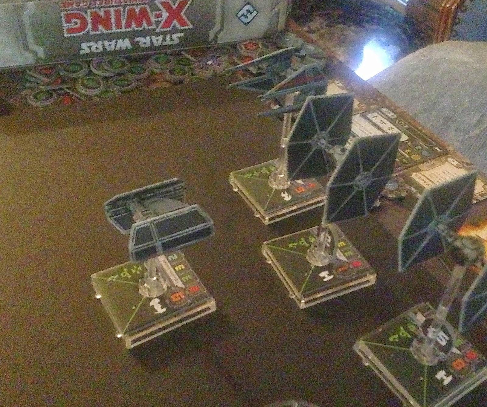 Darth's TIE Advanced, X-wing, Death Star, Battle Gaming One