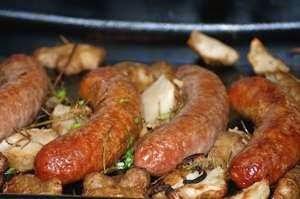 pan frying sausage