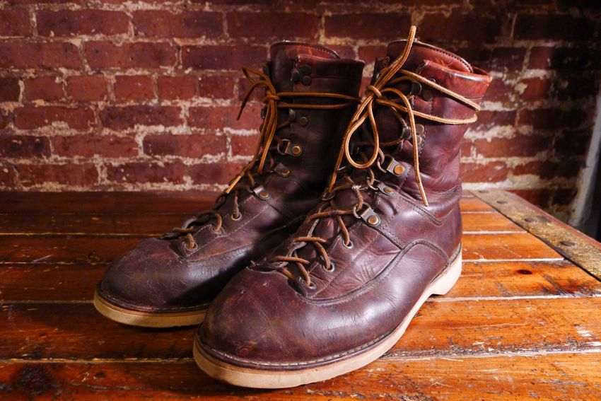 cube.: Vintage Danner Boots Tall Brown Size 10 $168 Plus Tax