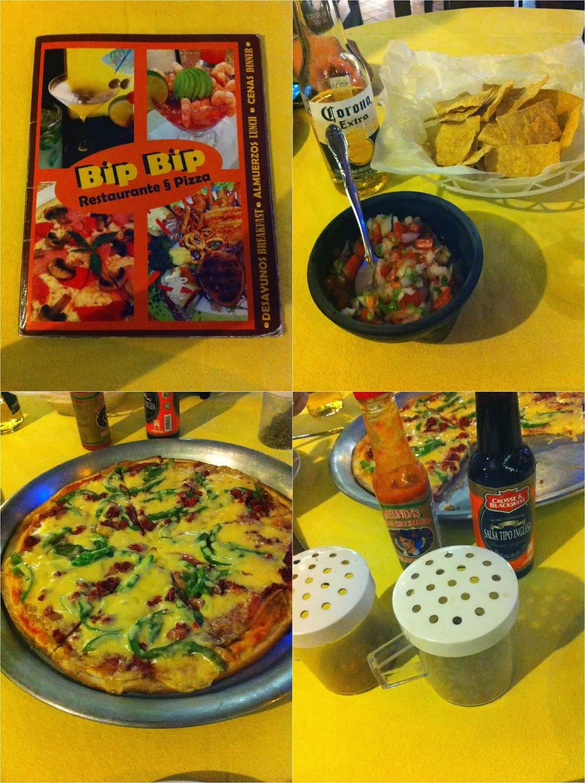 Bip Bip, pizzaria, pizza, Playa Del Carmen, México, Caribe, playa, cerveja