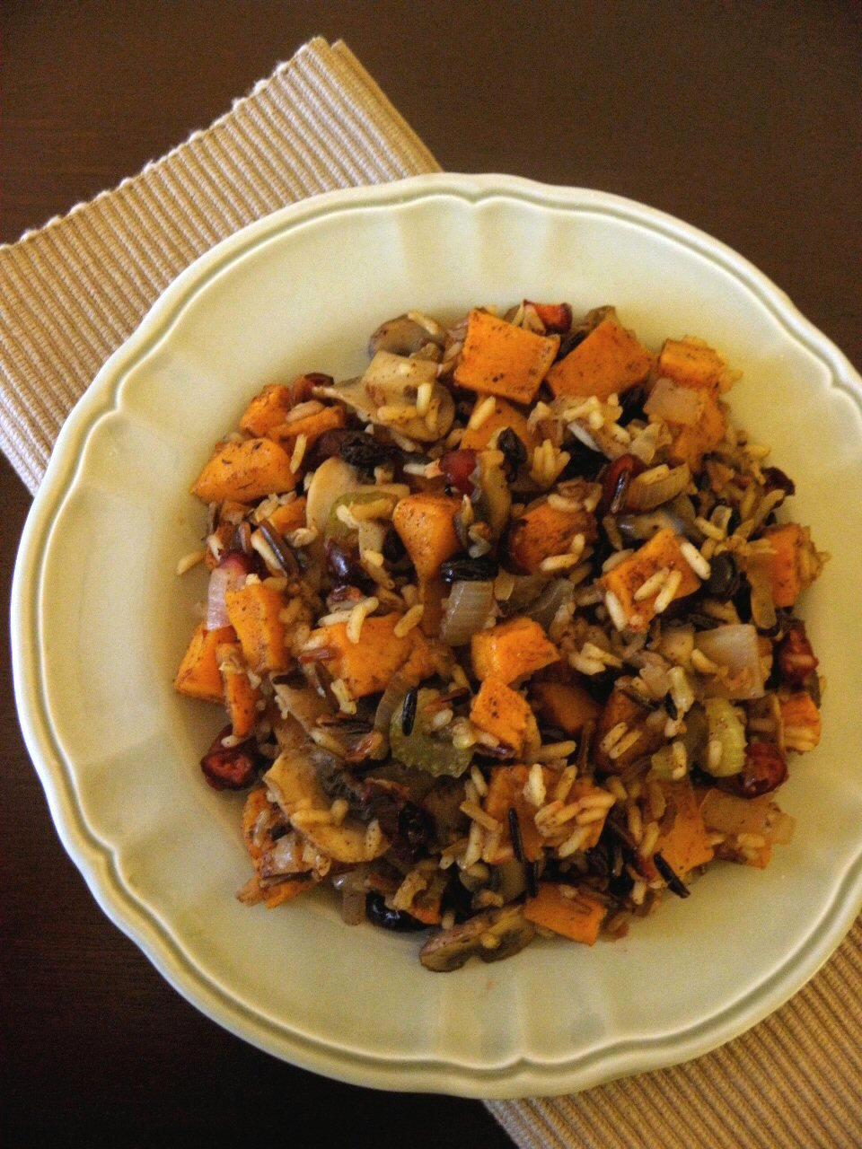 Cinnamon Freud: Wild Rice and Fruit Stuffing