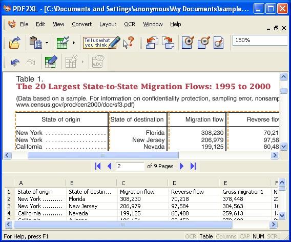 adobe pdf to excel converter software free download
