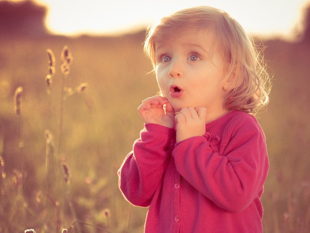 lovely baby girl with pink dress hd wallpaper cute