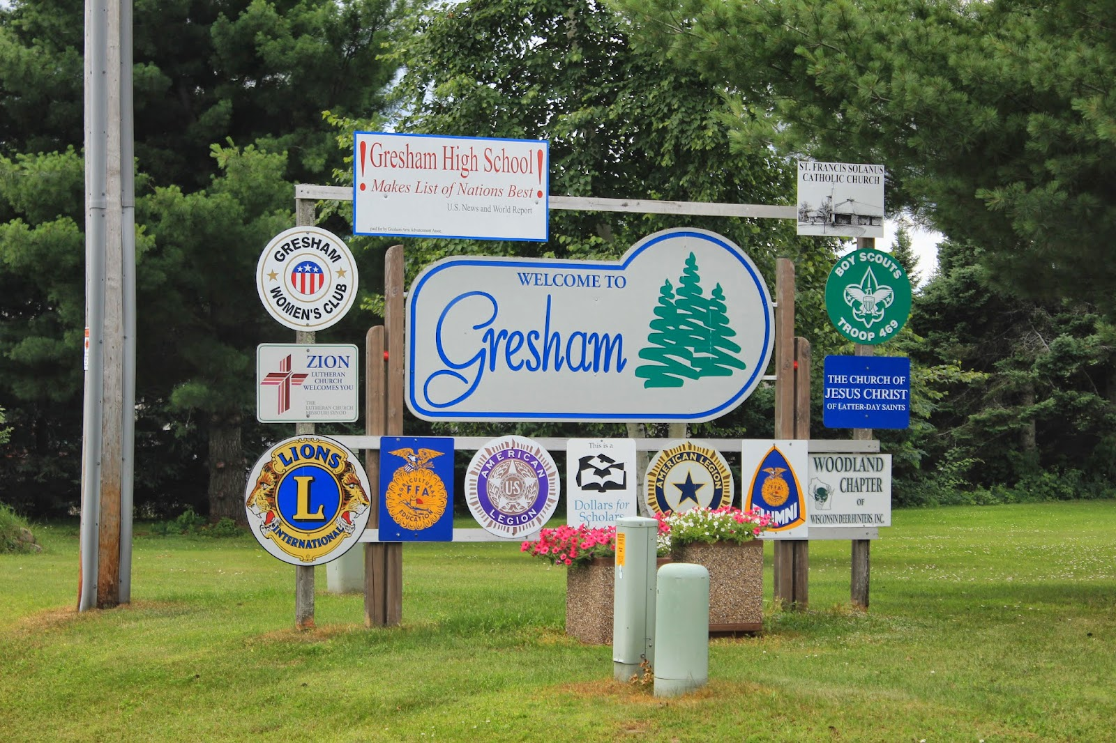 Wisconsin Historical Markers: Awesome Gresham, Wisconsin