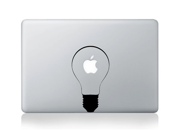 Bulb Light MacBook Pro Sticker