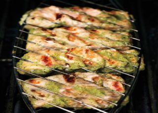 Green Shawarma Salmon,fish shawarma