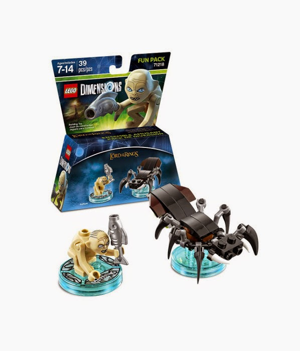 TOYS - LEGO Dimensions : Lord Of The Rings  71218 Fun Pack : Gollum | Figura - Muñeco   Gollum and Shelob the Great | Ella-Laraña  [27 Septiembre 2015] | Juguetes & Videojuegos  Piezas: 39 | Edad: 7-14 años