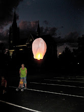 Launching the lanterns