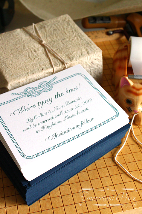 Tying the Knot Save the Dates - Concertina Press