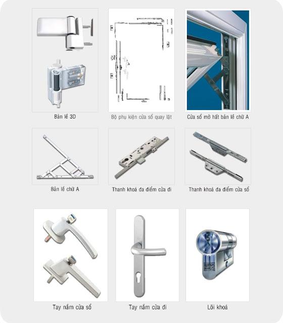Tính đồng bộ các loại phụ kiện cửa nhựa lõi thép