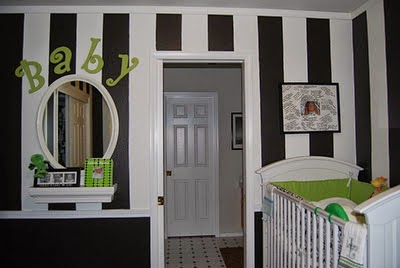 babies nursery decorating ideas with black and white paint colours