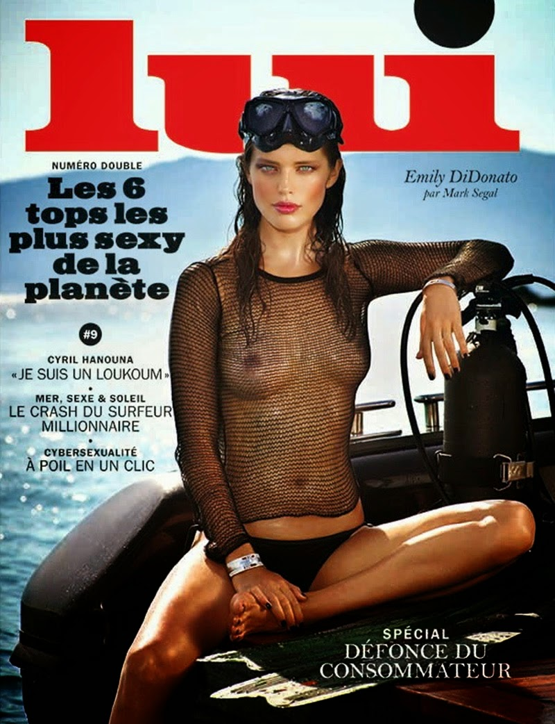 Emily DiDonato Poses for Lui Magazine July-August 2014 by Mark Segal