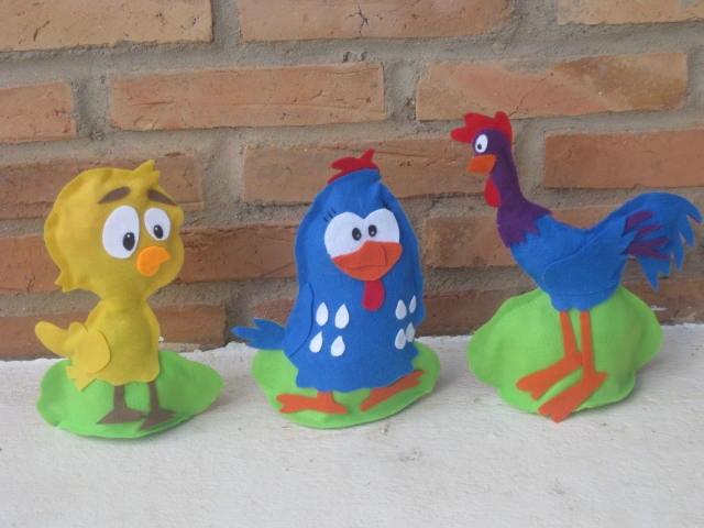 enfeites para jardim uberlandia:peso de porta pintinho amarelinho, galinha pintadinha, galinha carijó