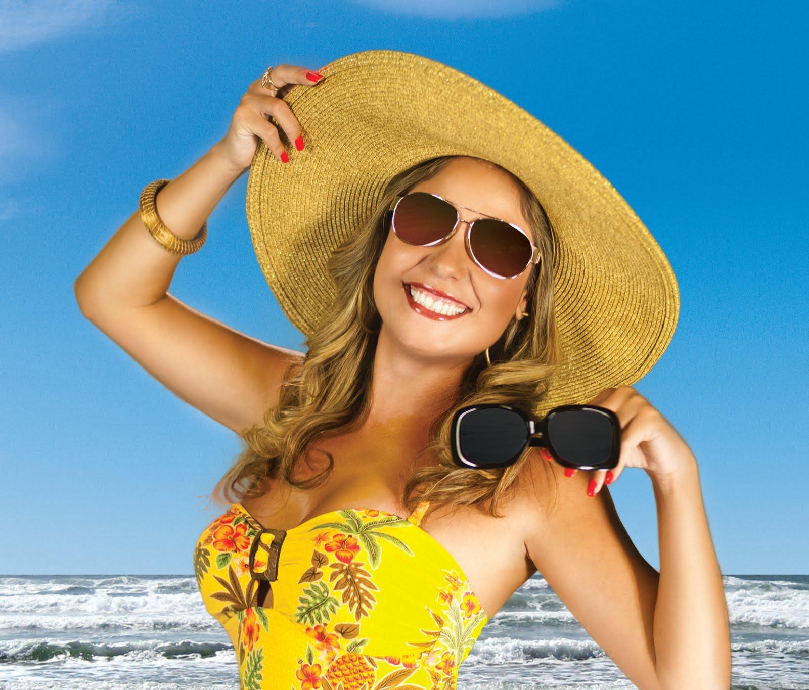 As Óticas Opção querem proteger total os seus olhos neste Verão. É com este  propósito que a cantora Elaine Fernandes, munida de protetor solar, chapéu  e, ... af5b9b3ac0
