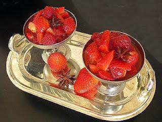 Salade de fraises et framboises