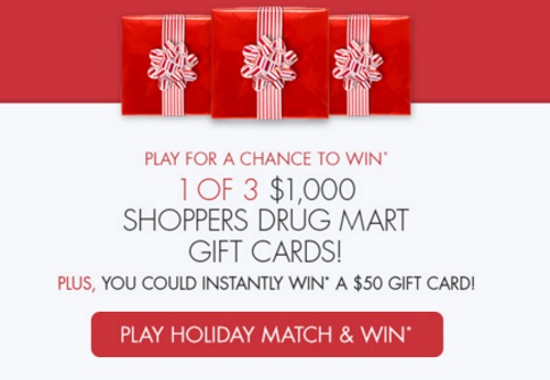 Shoppers Drug Mart Match & Win Happy Jolly Days Giveaway