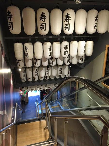Sushi Lanterns at Yo! Sushi Edinburgh.