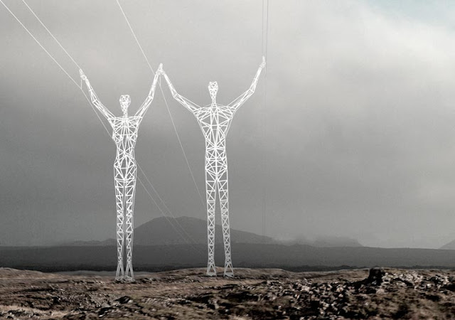 Photo of male and female pylon design