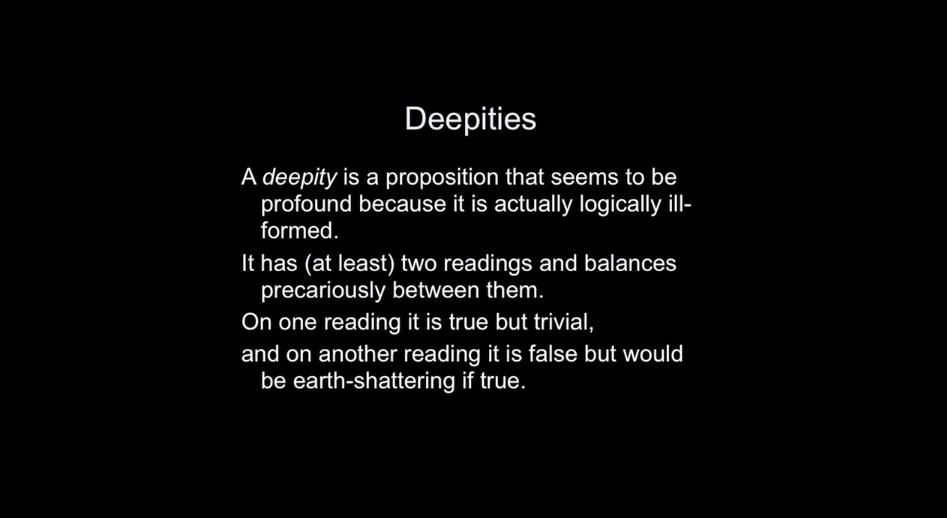 deepities, daniel dennett, lecture