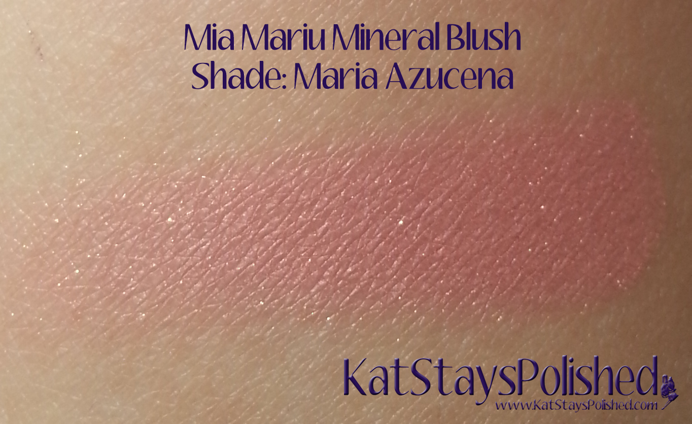 Mia Mariu Mineral Blush - Azucena | Kat Stays Polished
