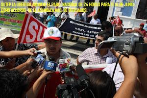 Trujillo: Conferencia de prensa_difusión del Paro Nac. SUTEP 14 JUN 2012