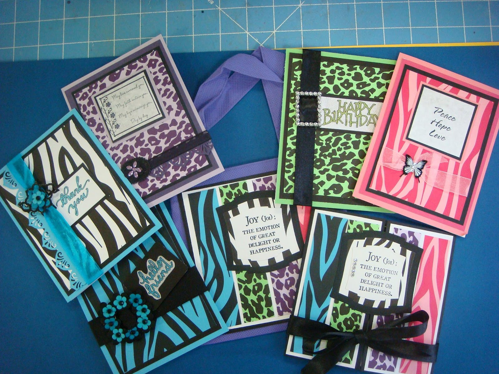 Carolyn 39 s creative corner animal prints card set using for Store hours michaels crafts