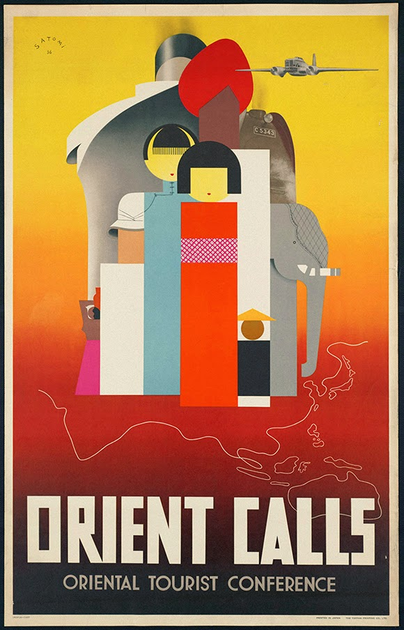 classic posters, free download, free posters, free printable, graphic design, printables, railroad, retro prints, travel, travel posters, vintage, vintage posters, vintage printables, advertising, Orient Calls - Vintage Travel Poster