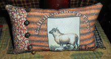 PERSONALIZED SHEEP PILLOW TUCK