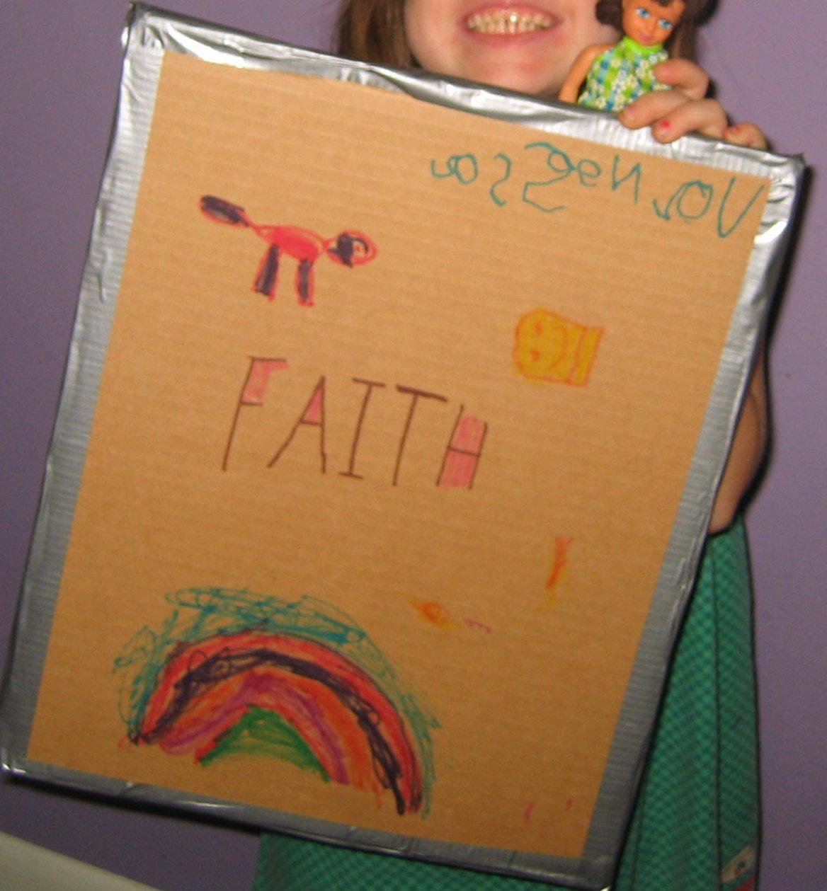 eagle nest mom shield of faith craft for the armor of god