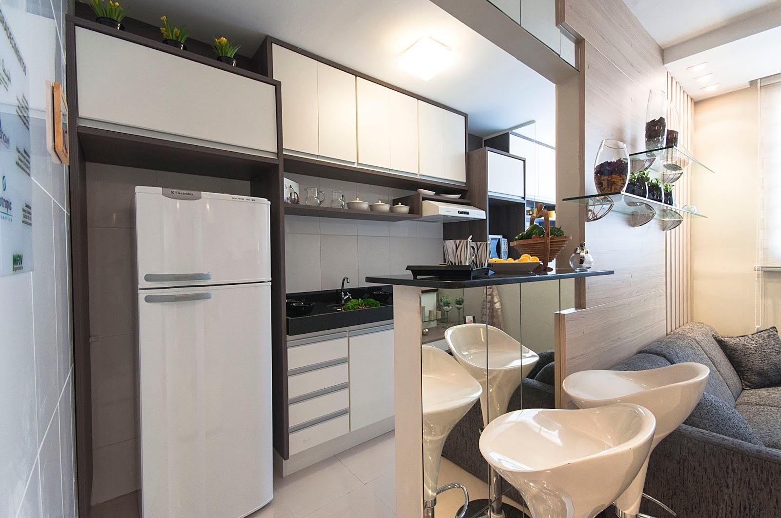 Decorao De Sala De Estar Pequena Com Cozinha Americana O Espao Trs