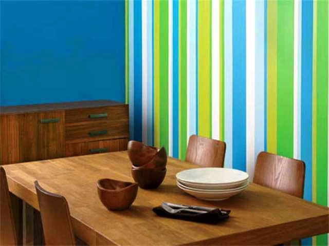 painting ideas with stripes on wall