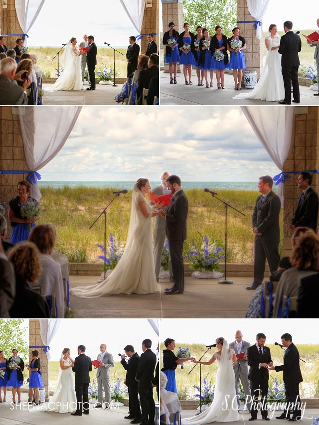 Saint Joseph Michigan beach wedding