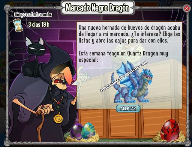 imagen del quartz dragon en el mercado negro del dragon