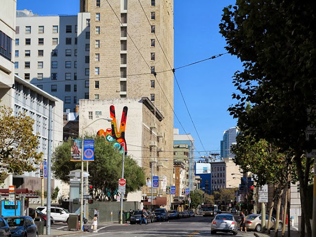 """Peace, Man"" New Street Art Mural By Australian Artist REKA in San Francisco, USA 5"