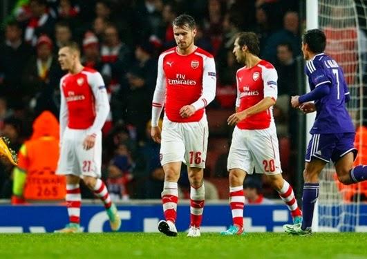 Arsenal Ditahan Imbang Anderlecht Haman Salahkan Aaron Ramsey