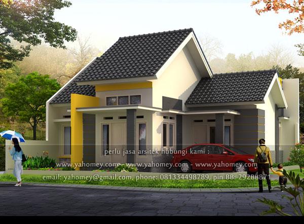 desain rumah pojok & Seputar Dunia Rumah: Desain Rumah Pojok Dilahan 105x125