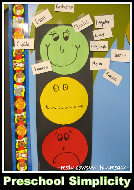 photo of: DIY Behavior Chart Using Stop Light Theme (Behavior Chart RoundUP via RainbowsWithinReach)