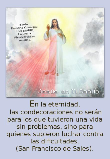 divina misericordia con mensaje de los santos