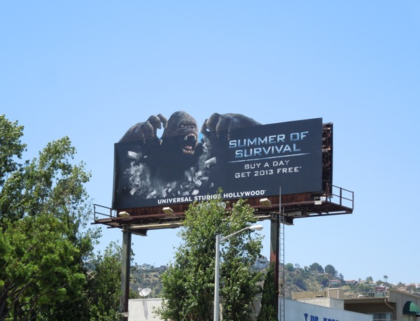 King Kong Summer Survival Universal billboard