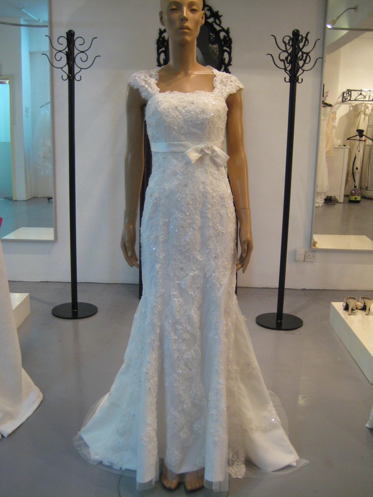 Vintage Lace Wedding Dresses Cap Sleeves