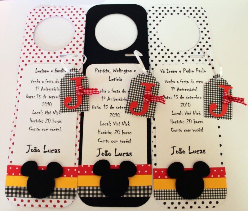 Convites Em Sbook Mickey