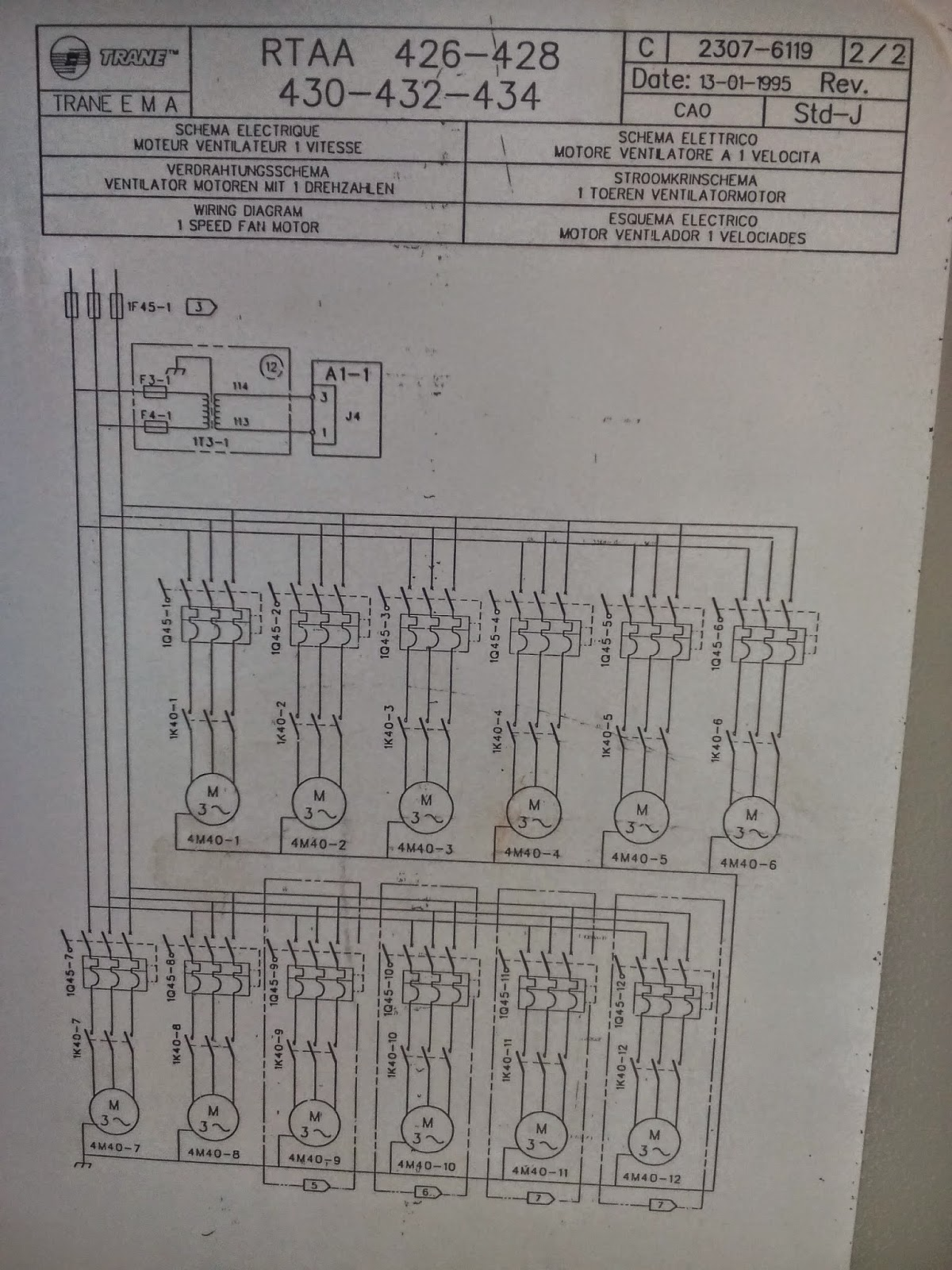 HVAC     CHILLERS  HEATPUMP  Trane chiller air cooled control    wiring       diagram    RTAA Series