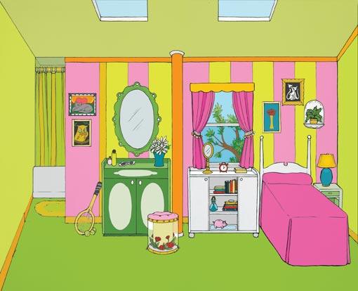 Cartoon Bedroom For Kids
